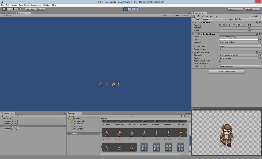Creating 2D animated sprites using Unity 4 3 by Michael H C