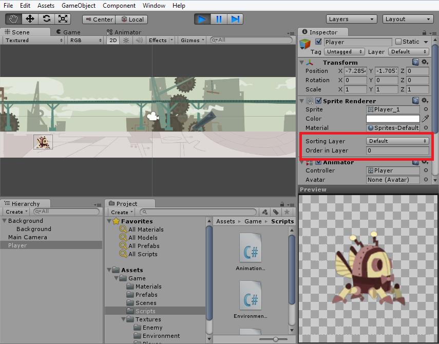 Solving z-order issues with Unity 3D's new 2D workflows by
